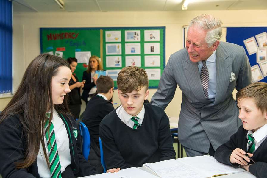 Historic Royal Seal of Approval for Successful School