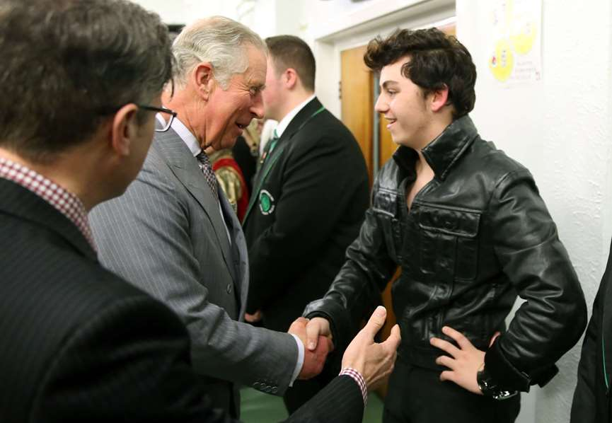Prince of Wales meets the King of Rock n Roll!